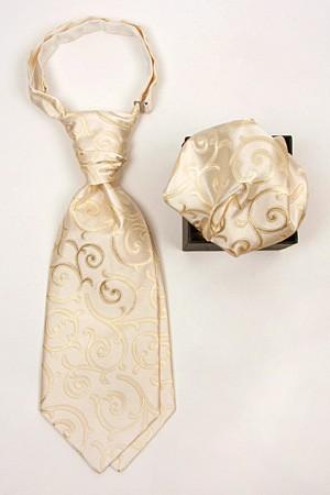 Kravat med matchende pynteklud