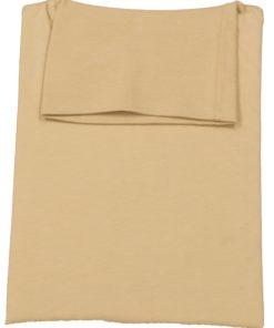 Sandfarvet trøje med rullekrave
