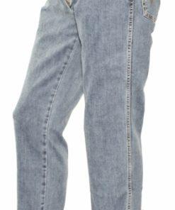 Stonewashed jeans - set fra siden