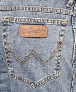 Wrangler logo på bukselommen