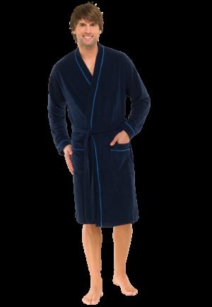 Mørkeblå badekåbe