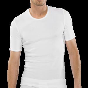 Hvid undertrøje med korte ærmer