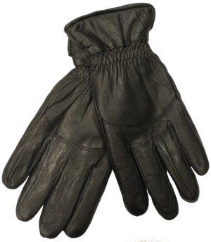 Sorte gedeskinds handsker