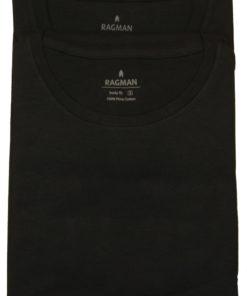 2 stk Ragman tshirts i sort med rund hals