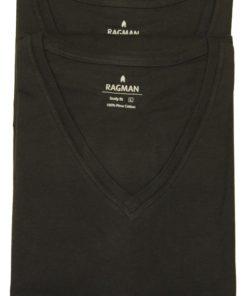 2 stk Ragman tshirts i sort med vhals