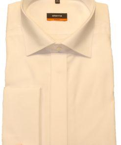 Hvid Smoking skjorte i Slim frít fra Eterna