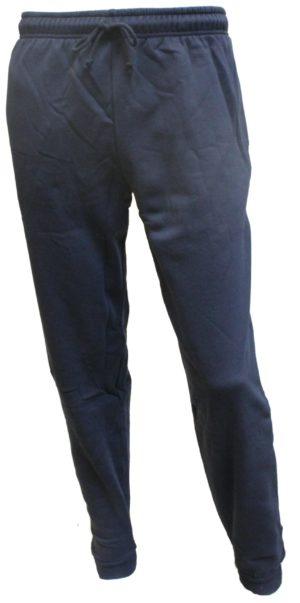 Blå joggingbukser med rib kant