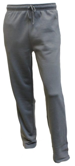 Stålgrå joggingbukser uden rib kant fra Camus